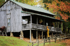 Butcher Holler Home in Hurricane Mills. The depression era Butcher Holler replicate home in Hurricane Mills, Tennessee Stock Photography