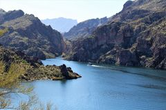 Butcher Jones Beach Arizona, Tonto National Forest stock image