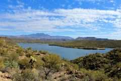 Butcher Jones Beach Arizona, Tonto National Forest royalty free stock images