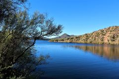 Butcher Jones Beach Arizona, Tonto National Forest royalty free stock photos