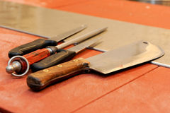 Butcher knife Royalty Free Stock Photography