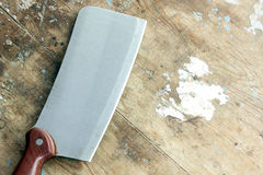Butcher knife or cleaver  Royalty Free Stock Photography