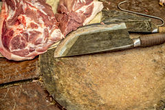 Butcher knife Royalty Free Stock Images