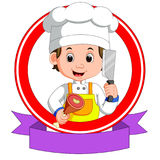 Butcher mascot cartoon Royalty Free Stock Images