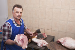 Butcher and meat Royalty Free Stock Photos