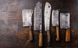 Butcher meat cleavers Royalty Free Stock Photos