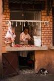 Butcher in the medina. Marrakesh . Morocco stock image