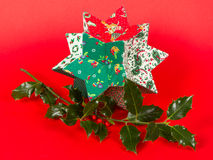 Butcher's broom and christmas decoration,  Stock Images