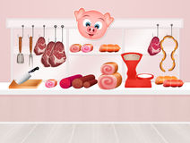 Butcher`s shop Royalty Free Stock Photo