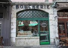 Butcher's shop in France Royalty Free Stock Photos
