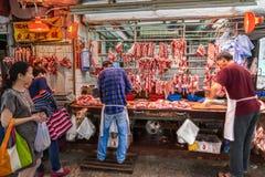 Butcher's Shop in Hong Kong, China Stock Photo