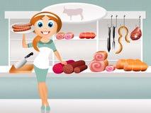 Butcher's shop Stock Images