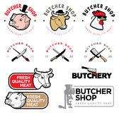 Butcher's shop logo Royalty Free Stock Images