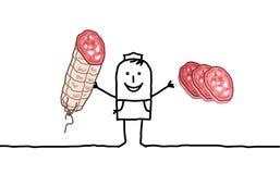 Butcher & sausage Stock Photos