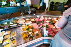 Butcher shop in Champagne region of France Stock Images