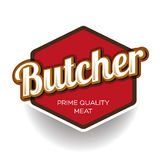 Butcher Shop Design Element, Label or Badge Royalty Free Stock Photography