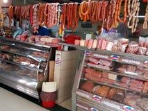 Butcher shop in ecuador. General view of a Butcher shop in ecuador Royalty Free Stock Photos