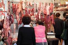 Butcher shop in Hong Kong Stock Image