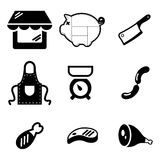 Butcher Shop Icons Royalty Free Stock Photo