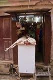 Butcher shop in Kathmandu, Nepal Royalty Free Stock Image