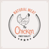 Butcher Shop Label Template, Chicken Cuts Diagram Stock Image