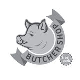 Butcher shop logo Royalty Free Stock Photography