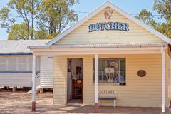 Butcher Shop At Miles Museum And Historical Village. MILES, QUEENSLAND, AUSTRALIA - January 25th 2019: Miles Historical Village And Museum butcher shop royalty free stock photos