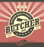 Butcher shop minimalistic  design Royalty Free Stock Photo