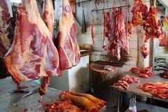 Butcher shop in Sri Lanka Stock Photos