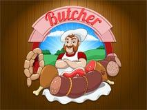 Butcher vector illustration Stock Photos