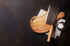 Butcher. Vintage meat knife stock photos