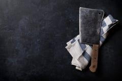 Butcher. Vintage meat knife stock photo