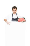 Butcher - This weeks specials Royalty Free Stock Image
