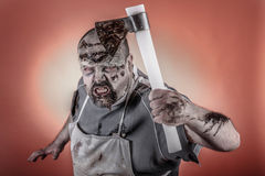 Butcher zombie Stock Image