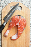 Butchering of salmon Royalty Free Stock Image