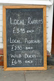 Butchers chalkboard sign Royalty Free Stock Image