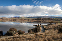 Butchers dam. Alexandra central Otago on a still day Royalty Free Stock Images