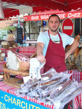 Butchers sell from their vans Royalty Free Stock Photography