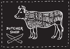 Butchers shop. stock illustration