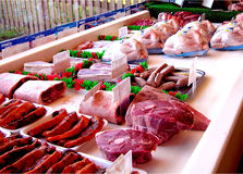 Butchers Window Royalty Free Stock Image