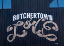 Butchertown - un distrito en Louisville imagenes de archivo