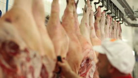 Butchery backstage stock video