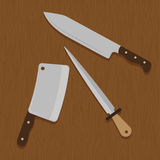 Butchery or butcher theme Royalty Free Stock Images