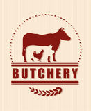 Butchery or butcher theme Stock Images