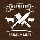 Butchery or butcher theme Royalty Free Stock Photo