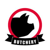 Butchery or butcher theme Stock Photos