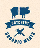 Butchery or butcher theme Royalty Free Stock Photography