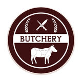 Butchery or butcher theme Royalty Free Stock Photos