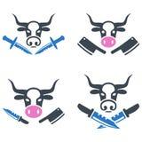 Butchery Flat Icons Stock Image