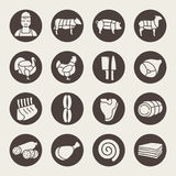 Butchery icons Stock Images